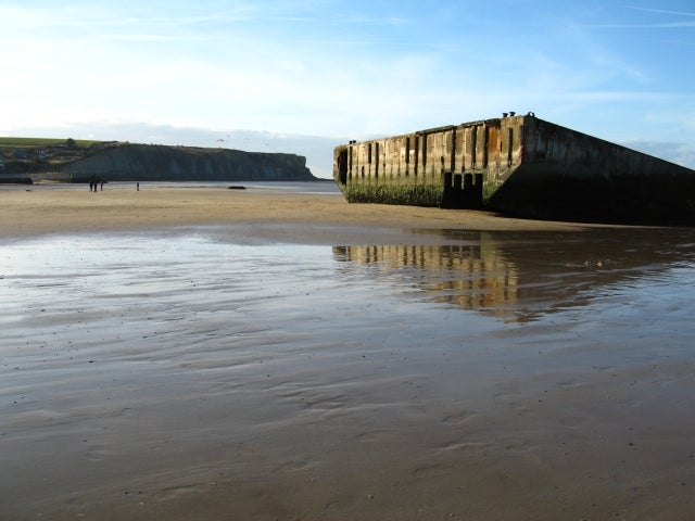 Arena en Playa de Arromanches