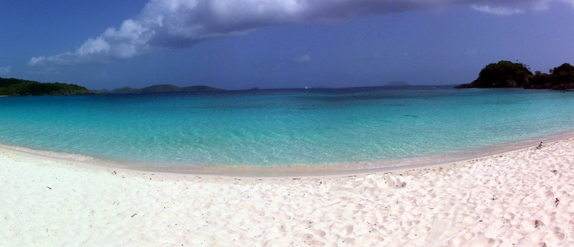 Horizonte en Trunk Bay
