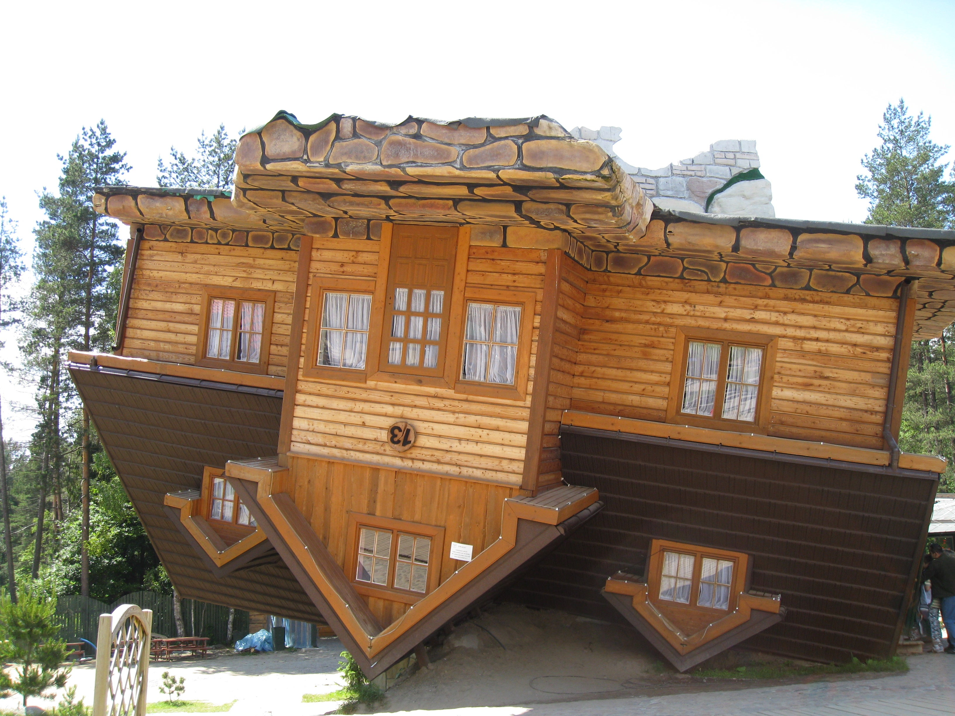 House face down in Szymbark