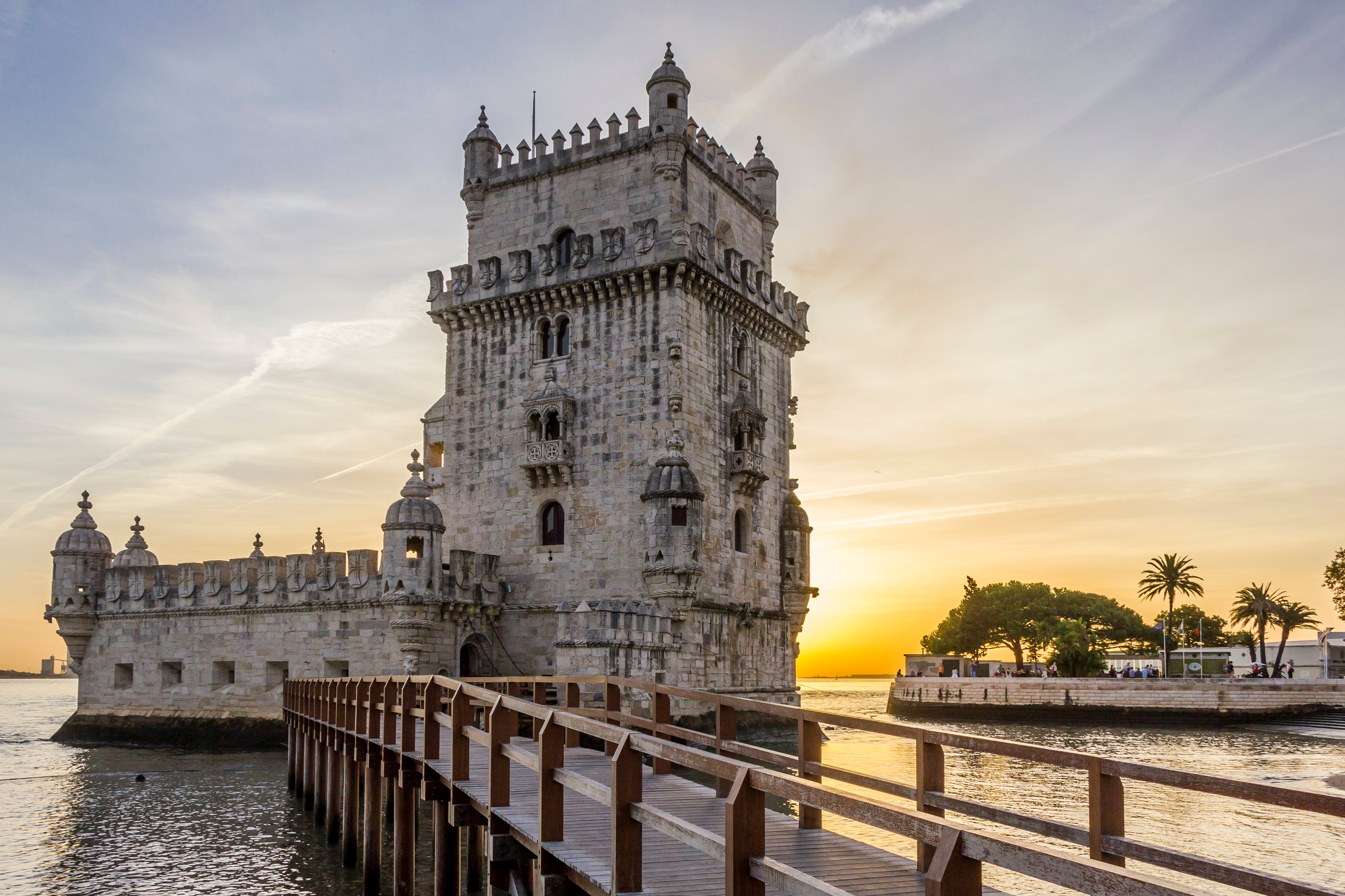 River in Belém Tower