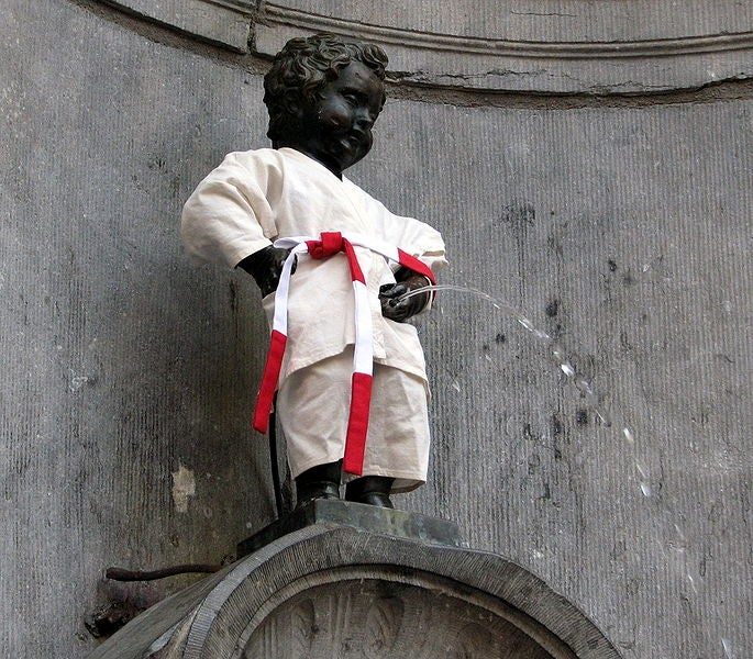 Pared en Manneken Pis
