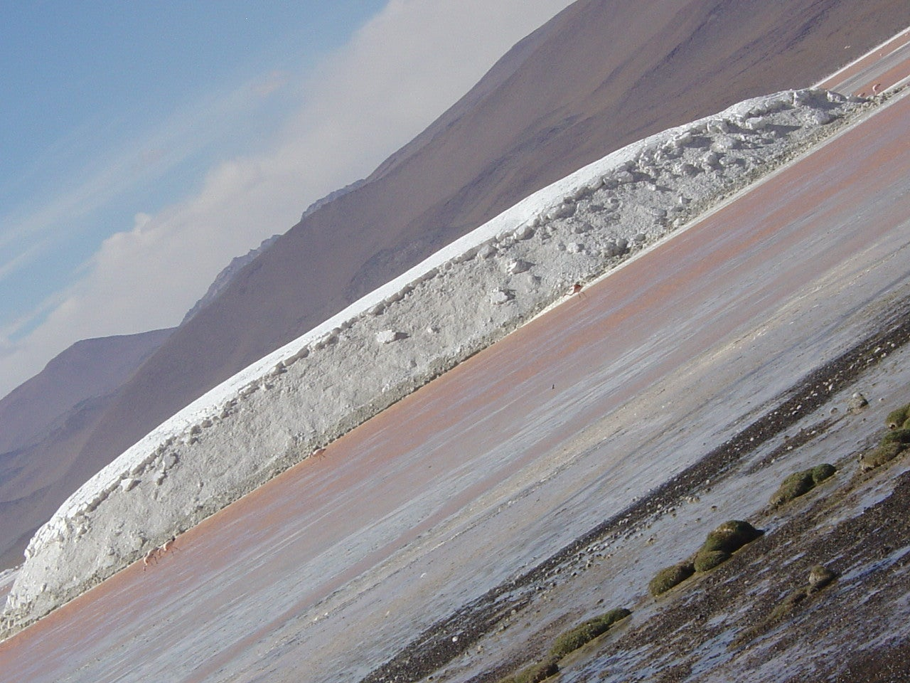 Pared en Laguna Colorada