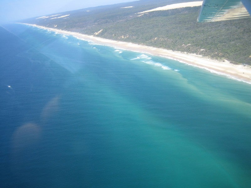 Flying Over Fraser Island