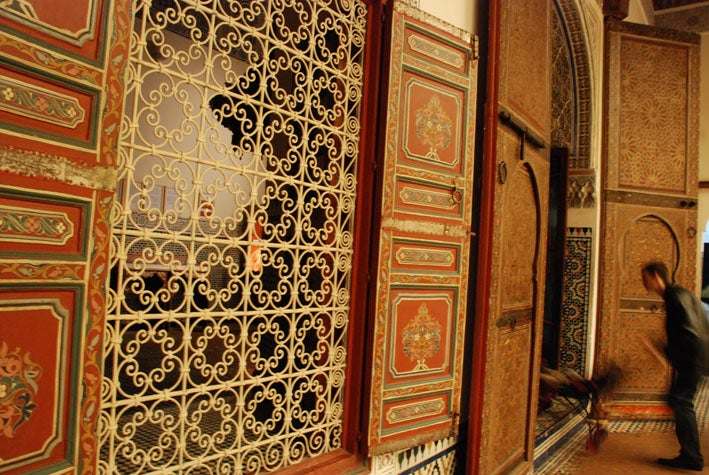 Pared en Museo de Marrakech