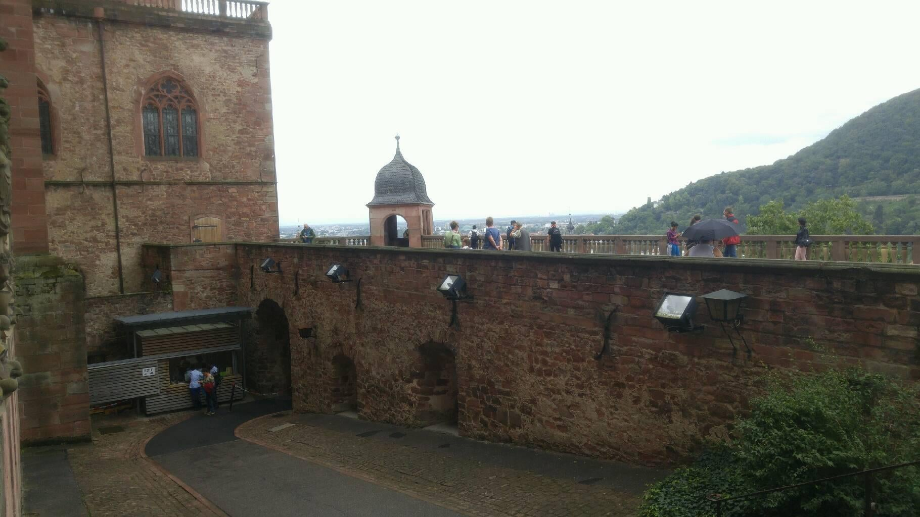 Pared en Castillo de Heidelberg