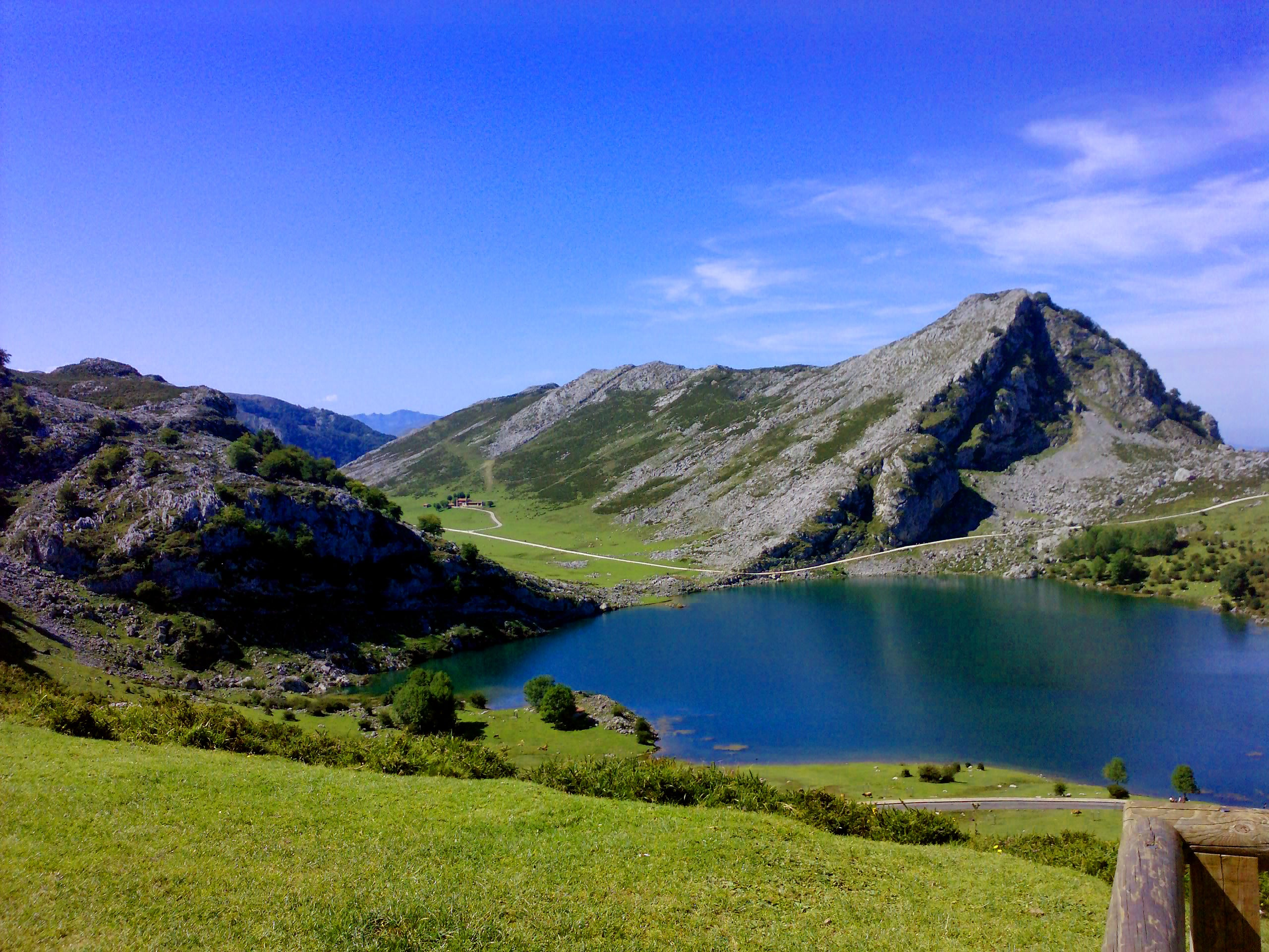 Blue in The Lakes of Covadonga - Enol and Ercina lakes