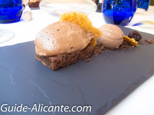 Brownie de chocolate en Restaurante El Xato