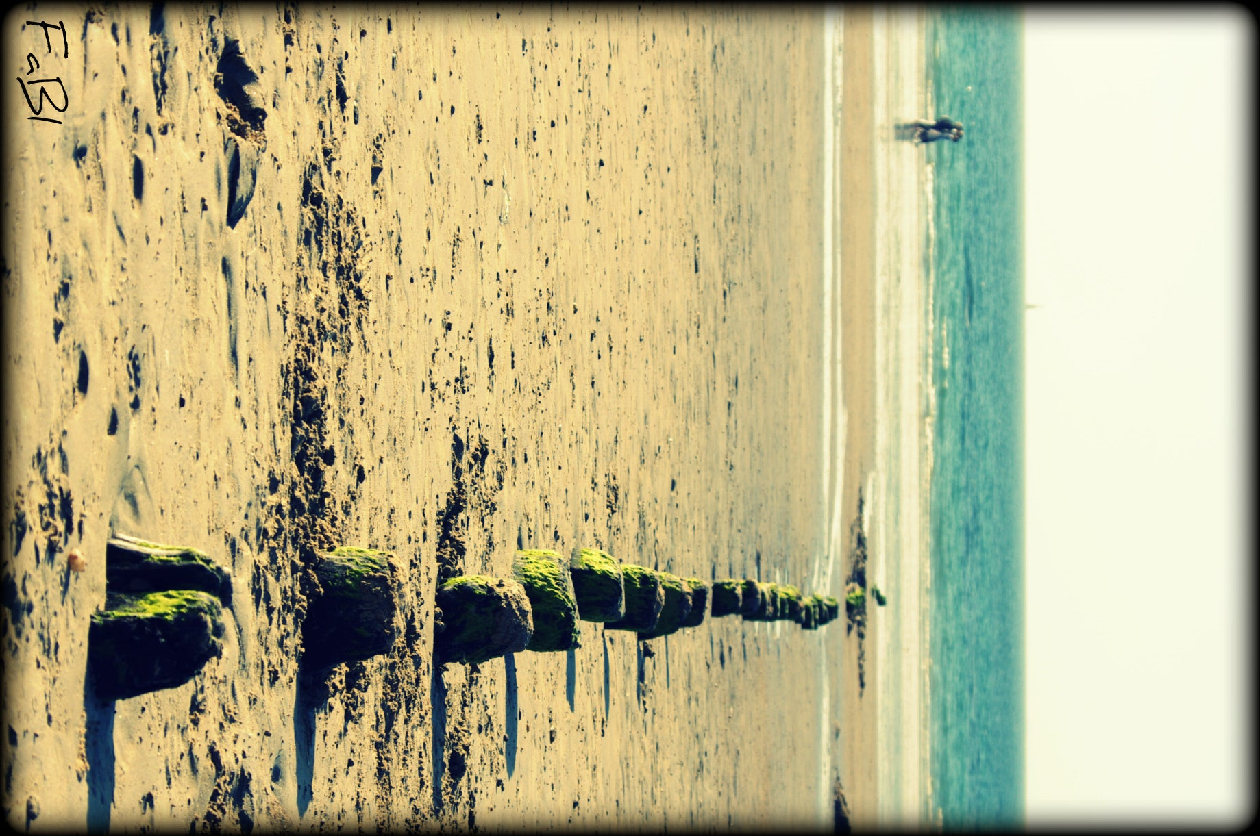 Pared en Playa de Saint Malo
