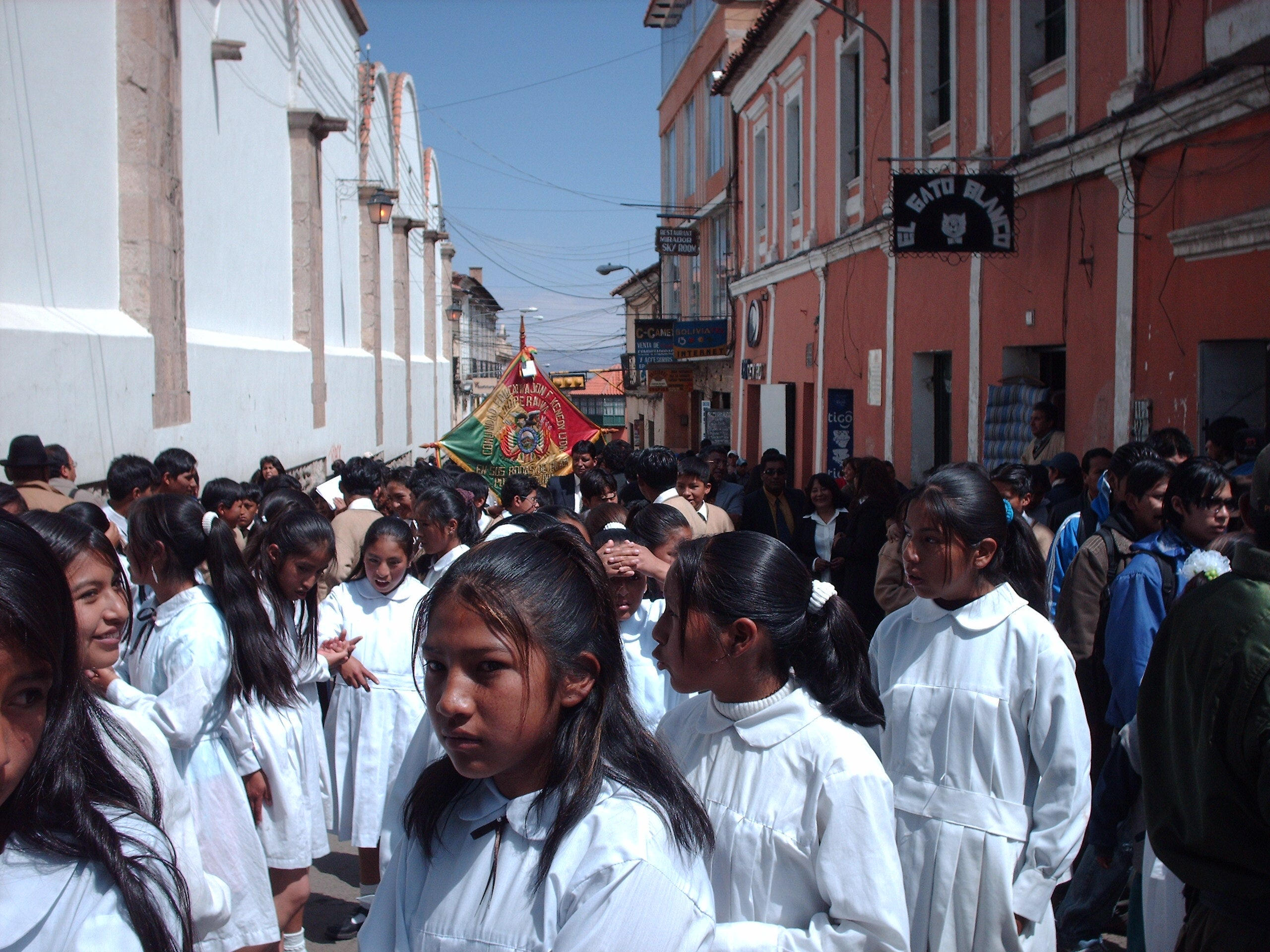 Multitud en Potosí